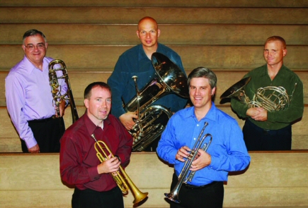 Go to the brass quintet's website.